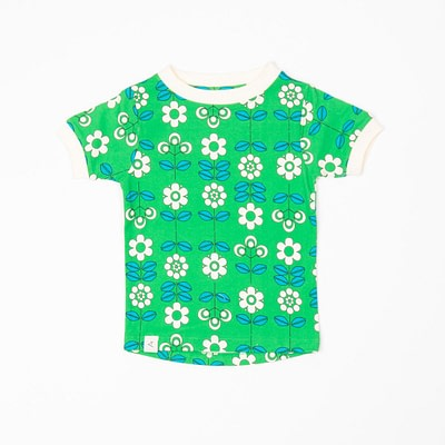 Alba Bella tee Kelly Green Fairy Tale Flowers