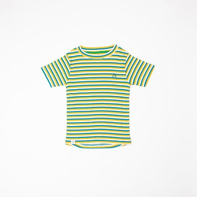 Alba of Denmark Turkish Tile yellow stripes Bell t-shirt