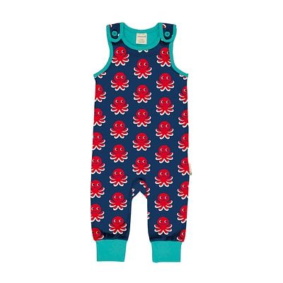 Maxomorra octopus dungarees playsuit