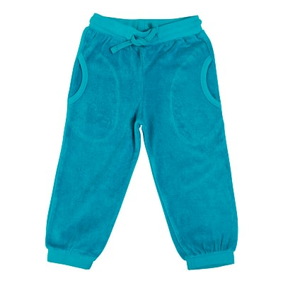 DUNS Sweden Terry trousers lake blue