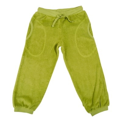 DUNS Sweden terry trousers spinach green
