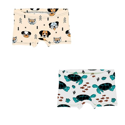 Meyadey boxer briefs happy dogs | turtle tide