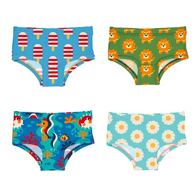 Maxomorra hipster knickers ice cream lion coral reef daisy