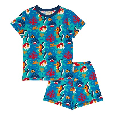 Maxomorra summer pyjamas coral reef
