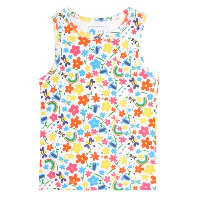 Picalilly rainbow meadow pyjamas vest