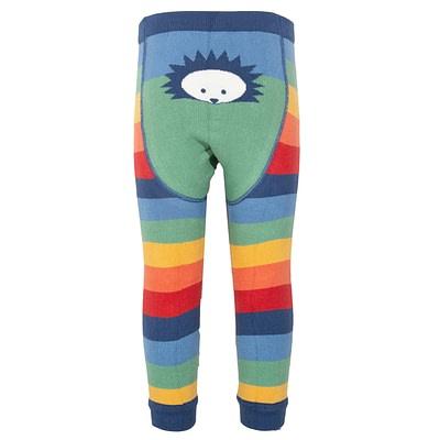 Kite knit leggings hedgehog rainbow