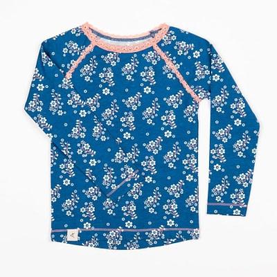 Alba Mykonos blue flower garden Ghita blouse