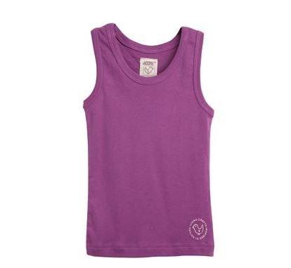 Girls purple cotton vest