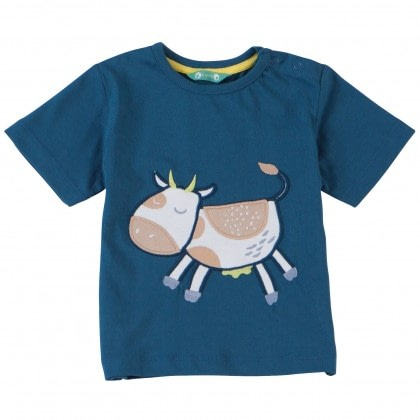 Organic cotton cow t-shirt from Piccalilly