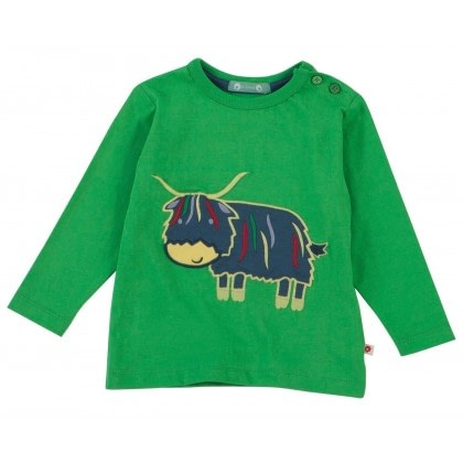 Piccalilly GOTS certified organic cotton top - highland cow