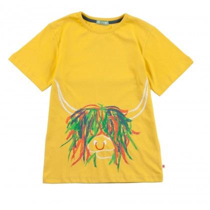 Organic cotton highland cow t-shirt