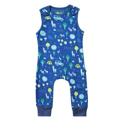 Stackhouse dungarees by Piccalilly in organic cotton 1