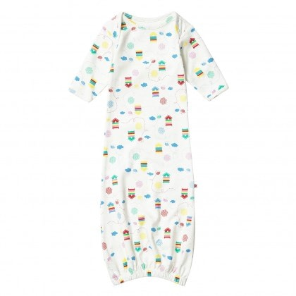 Bright unisex beehive organic nightgown bundler by Piccalilly 0-6 months 1