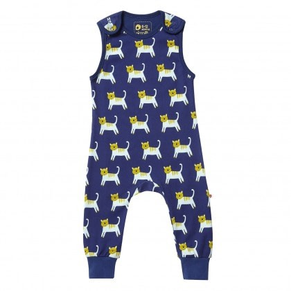 Hello Tiger dungarees by Piccalilly in organic cotton (92cm 18-24 months) 1