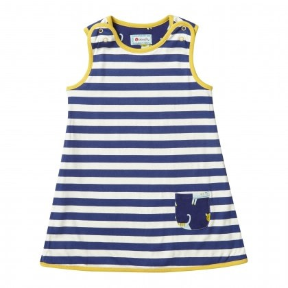 Hello Tiger and reversible stripe dress by Piccalilly 2