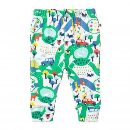 Malham farm print leggings by Piccalilly in organic cotton 1
