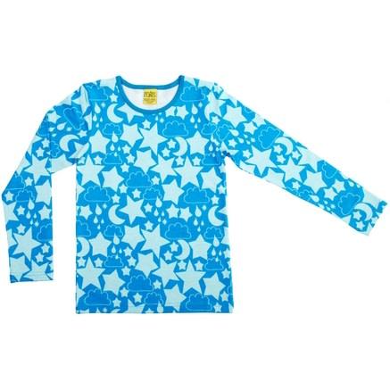Vivid blue stars organic cotton long sleeved top - More than a fling 1