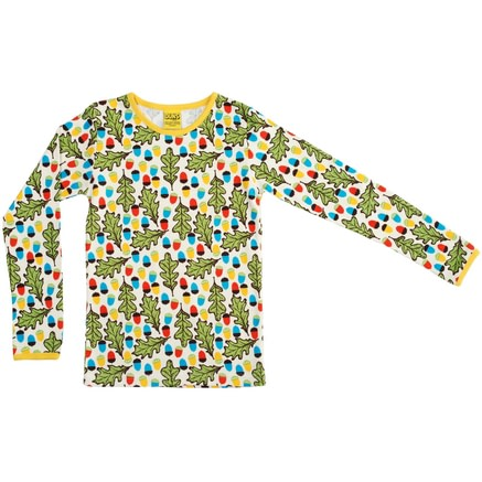 DUNS Sweden organic cotton top with acorn and leaf print
