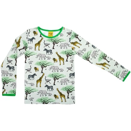 Africa print DUNS Sweden top in organic cotton