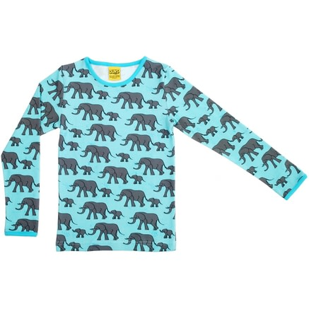 Elephants long sleeve top in organic cotton by DUNS Sweden