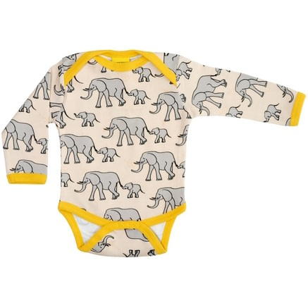 Yellow elephant vest by DUNS Sweden