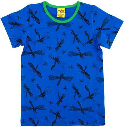 Blue dragonfly print wildlife t-shirt from DUNS Sweden