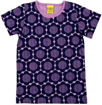 More than a Fling purple flowers t-shirt