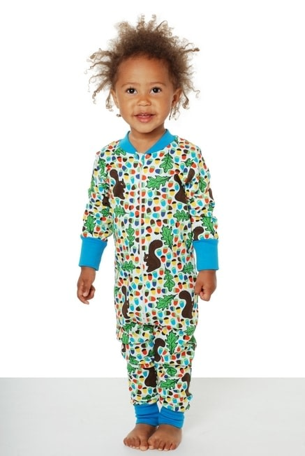 DUNS Sweden Lost in Space design organic cotton zipped onesie 2