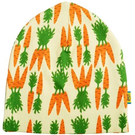 DUNS Sweden Carrots print organic cotton hat 1