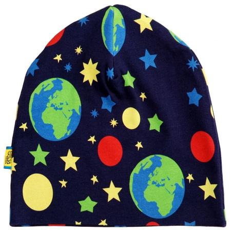 DUNS Sweden Earth print organic cotton hat 1