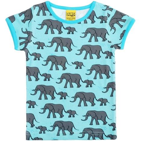 DUNS Sweden elephants print t-shirt in organic cotton