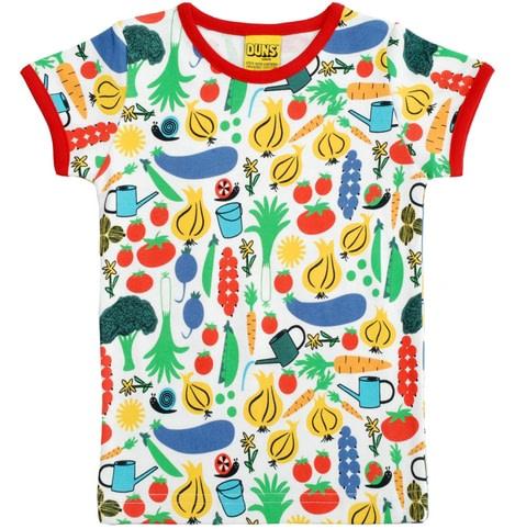 Garden vegetables t-shirt by DUNS Sweden in organic cotton