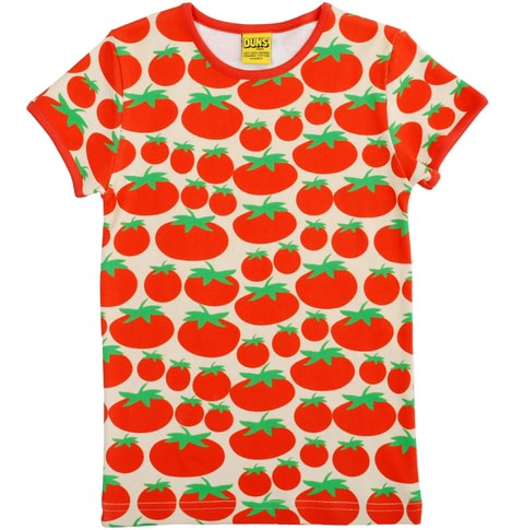 Tomatoes scandi print t-shirt by DUNS Sweden