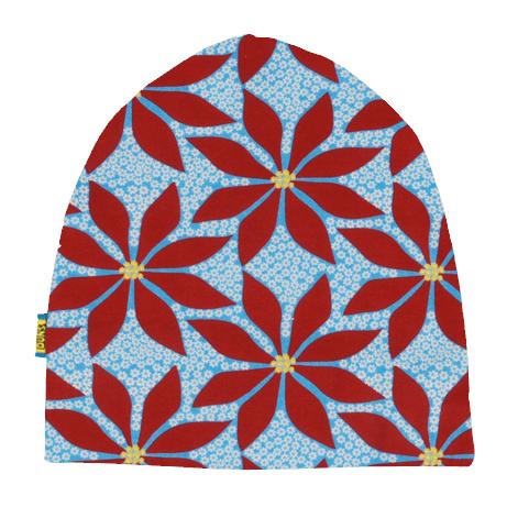 DUNS Sweden organic cotton beanie hat : Rainy day | Mushroom forest | Dark blue radish | Poinsettia 3