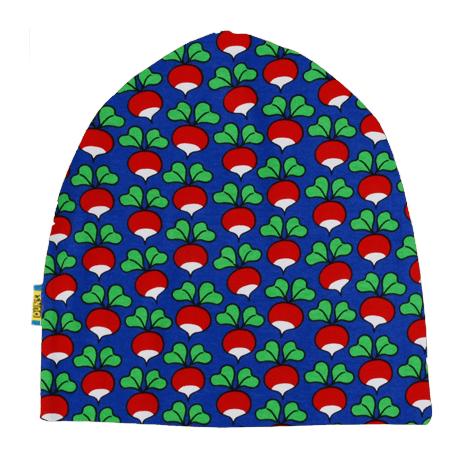 DUNS Sweden organic cotton beanie hat : Rainy day | Mushroom forest | Dark blue radish | Poinsettia 4
