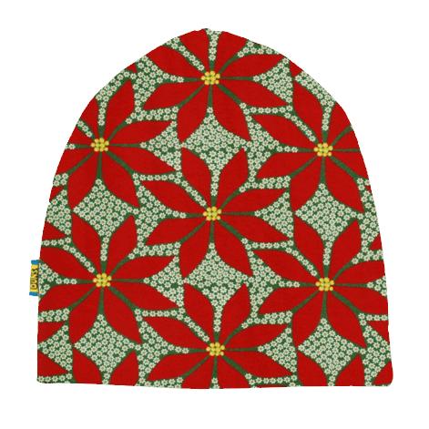 DUNS Sweden organic cotton beanie hat : Rainy day | Mushroom forest | Dark blue radish | Poinsettia 5