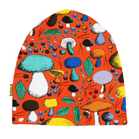 DUNS Sweden organic cotton beanie hat : Rainy day | Mushroom forest | Dark blue radish | Poinsettia 7