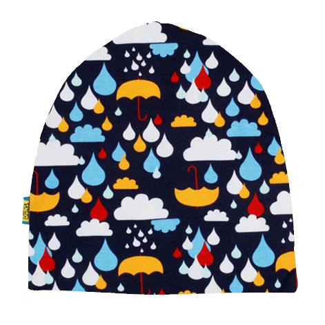 DUNS Sweden organic cotton beanie hat : Rainy day | Mushroom forest | Dark blue radish | Poinsettia 8