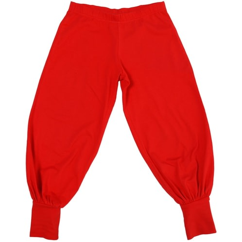 More than a Fling red baggy pants in organic cotton