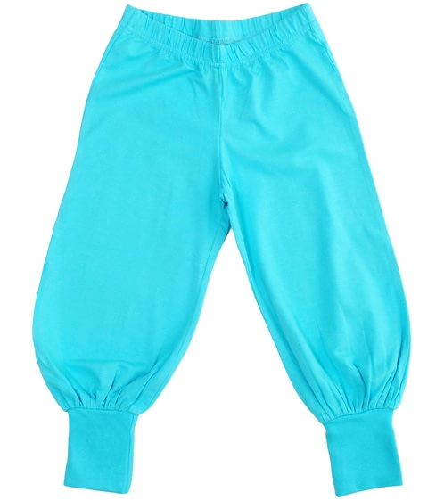 More than a Fling bright plain colour turquoise baggy joggers (18-24m) 1