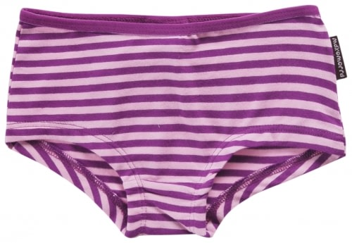 Toddler knickers in purple striped organic cotton by Maxomorra