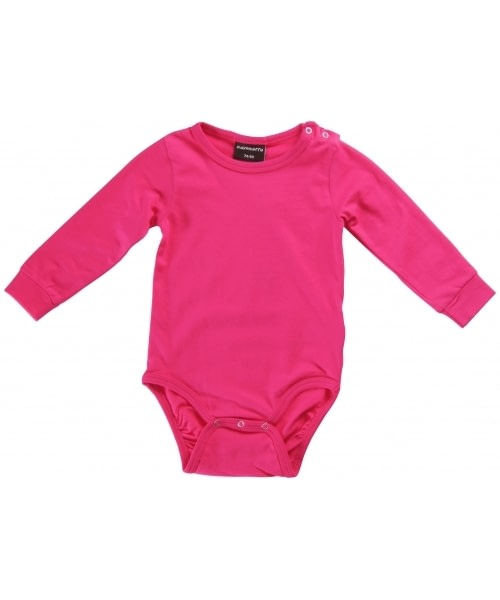 Bright unisex colours in organic cotton long sleeve baby vests by Maxomorra 2