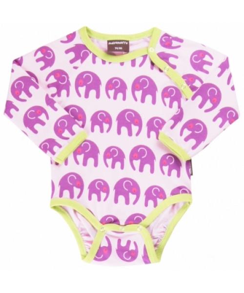 Scandi style elephant vest in funky purple by Maxomora