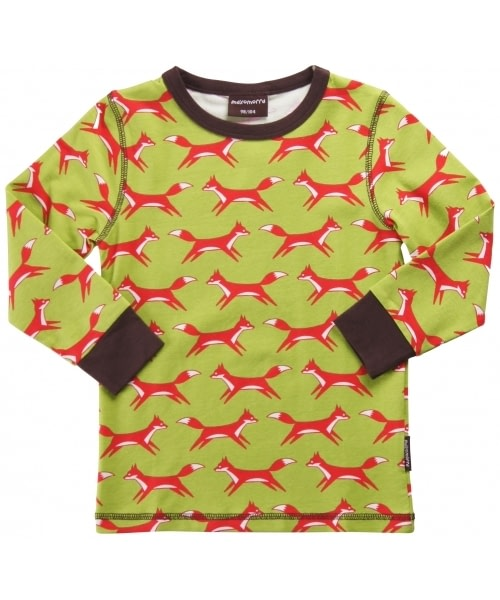 Scandinavian children's clothes - fox top by Maxomorra