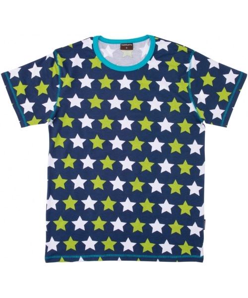 Organic cotton ladies Scandi print t-shirt with star design