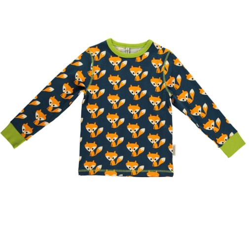 Foxes long sleeve t-shirt top by Maxomora