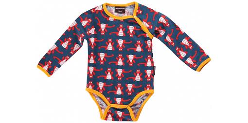 Organic cotton dragon print unisex newborn baby clothes