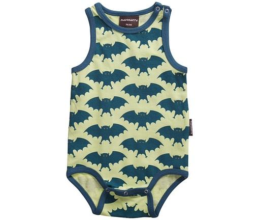 Bright unisex clothes for children - Bat print organic vest
