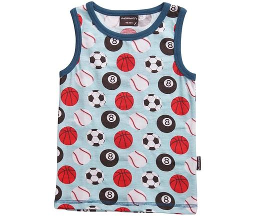 Maxomorra organic cotton sleeveless vest - sport