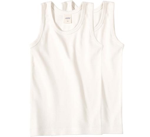 Boys white cotton sleeveless vests